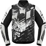 Icon Motosports OVERLORD SB2 STIM Textile Riding Jacket (White)