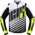 Icon MotoSports Overlord SB2 Textile Jacket CE Certified (Hi Viz)