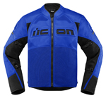 Icon Motosports CONTRA 2 Textile Riding Jacket (Blue)