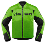 Icon Motosports CONTRA 2 Textile Riding Jacket (Green)