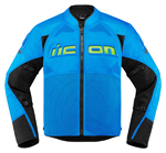 Icon Motosports CONTRA 2 Textile Riding Jacket (Light Blue)