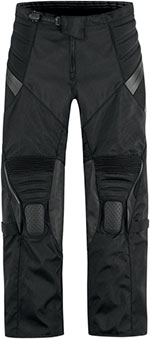 ICON Overlord Resistance Textile/Leather Motorcycle Pants (Stealth)