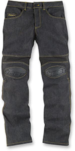 ICON OVERLORD Motorcycle Riding Pants/Jeans (Denim Blue)