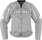 ICON Ladies Contra Textile Motorcycle Jacket (Silver)