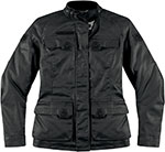 ICON Ladies 1000 Akorp Textile Motorcycle Jacket (Black)