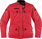 ICON Ladies 1000 Akorp Textile Motorcycle Jacket (Red)