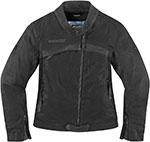 ICON Ladies Hella 1000 Textile Motorcycle Jacket (Black)