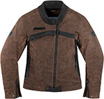 ICON Ladies Hella 1000 Textile Motorcycle Jacket (Brown)