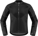 Icon Women's Mesh AF Jacket CE Certified (Stealth Black)