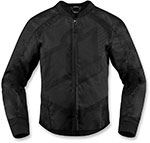 ICON Ladies OVERLORD 2 Textile Motorcycle Riding Jacket (Black)