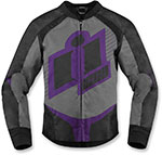 ICON Ladies OVERLORD 2 Textile Motorcycle Riding Jacket Gray/Purple