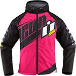 ICON Ladies TEAM MERC Textile Motorcycle Jacket (Pink)