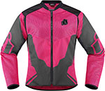 ICON Ladies ANTHEM 2 Fighter Mesh Motorcycle Jacket (Pink)