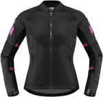 Icon MotoSports Women's Mesh AF Jacket CE Certified (Black)