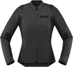 Icon MotoSports Women's Overlord SB2 Textile Jacket CE Certified (Stealth Black)