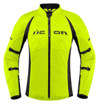 Icon Motosports Women's CONTRA 2 Textile Riding Jacket (Hi-Viz)