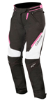 Alpinestars Women's Stella RAIDER Drystar Textile Riding Pants (Black/White/Pink)