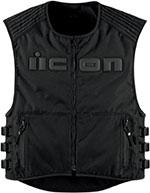 ICON Brigand Textile Motorcycle Vest (Stealth/Black)