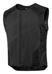 ICON Hypersport Leather Stripped Motorcycle Vest (Black - No Logo)