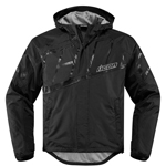 ICON PDX 2 Waterproof Nylon Motorcycle Rain Jacket (Black)
