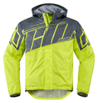 ICON PDX 2 Waterproof Nylon Motorcycle Rain Jacket (Hi-Viz)
