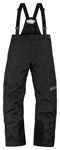 ICON Women's PDX 2 Waterproof Nylon Motorcycle Rain Bibs/Pants (Black)