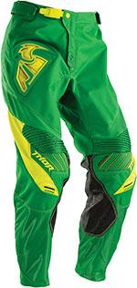 THOR MX Motocross 2016 Men's CORE Pants (CONTRO Green/Yellow)