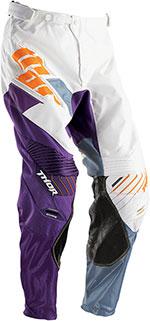 THOR MX Motocross 2016 Men's CORE Pants (MERGE White/Purple)