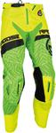 MOOSE Racing MX Motocross Men's 2017 SAHARA Pants (Green/Hi-Viz Yellow)