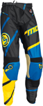 MOOSE Racing MX Motocross Men's 2017 M1 Pants (Blue/Yellow/Black)