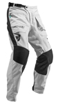 Thor MX Motocross Men's Terrain In-Boot Pants (Light Gray/Black)