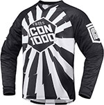 ICON 1000 Jackknife Adventure Dual Sport Moto Jersey (Black/White)