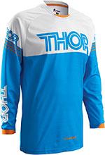 THOR MX Motocross 2016 Men's PHASE Jersey (HYPERION Blue/White)