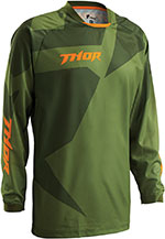 THOR MX Motocross 2016 Men's PHASE Jersey (CLOAK Green/Forest)