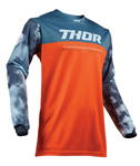 Thor MX Motocross Youth Pulse Air Jersey (ACID Red Orange/Slate)