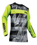 Thor MX Motocross Youth Pulse Jersey (BIG KAT Black/Lime)