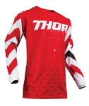 Thor MX Motocross Men's Pulse Jersey (STUNNER Red/White)