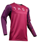 Thor MX Motocross Men's Prime Pro Jersey (INFECTION Maroon/Red Orange)