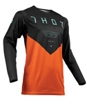 Thor MX Motocross Men's Prime Pro Jersey (JET Black/Red Orange)