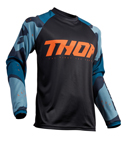 Thor MX Motocross Men's Sector Jersey (CAMO Blue)