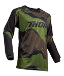 Thor MX Motocross Men's Terrain Jersey (Green Camo)