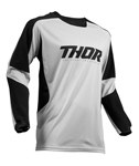 Thor MX Motocross Men's Terrain Jersey (Light Gray/Black)