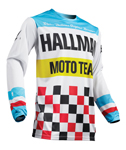 Thor MX Motocross Men's Hallman Jersey (HEATER White/Blue)
