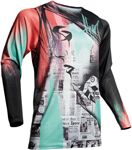 Thor MX Motocross Men's Prime Pro HEADLINE Jersey (Multi-Color)