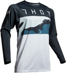 Thor MX Motocross Men's Prime Pro FIGHTER Jersey (Navy Blue/Camo)