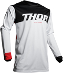 Thor MX Motocross Men's Pulse Air FACTOR Jersey (White/Black/Red)