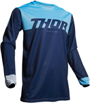 Thor MX Motocross Men's Pulse FACTOR Jersey (Navy/Powder Blue)