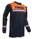 Thor MX Motocross Men's Pulse Pinner Jersey (Midnight/Orange)