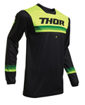 Thor MX Motocross Men's Pulse Pinner Jersey (Black/Acid)