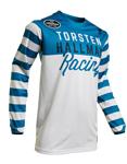 Thor-Hallman MX Motocross Ringer Jersey (Blue/White)